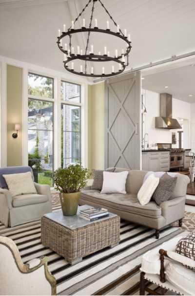 modern farmhouse living room lighting