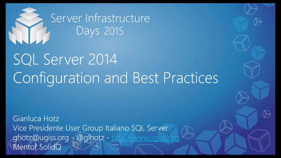 SQL Server 2014 Configuration and Best Practice  DB01