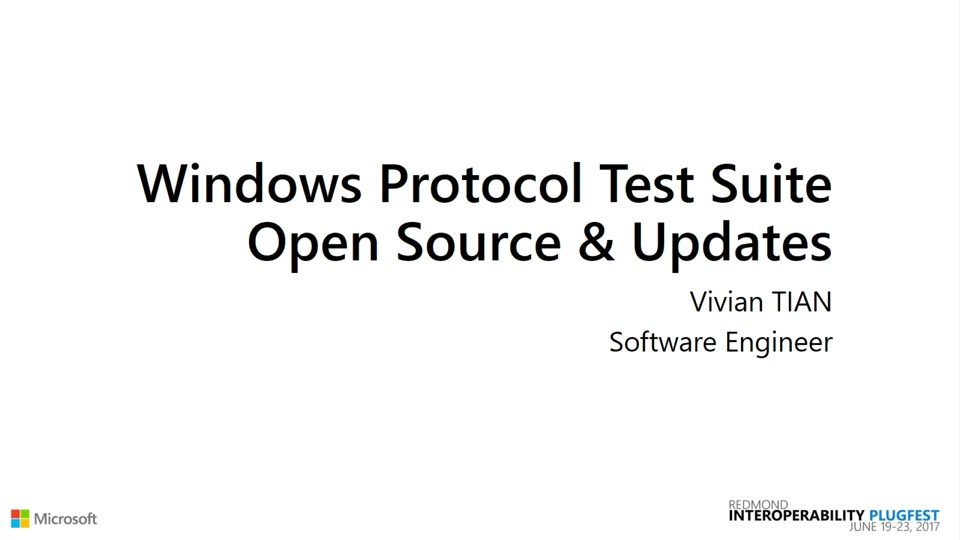 Windows Protocol Test Suite Open Source and Updates