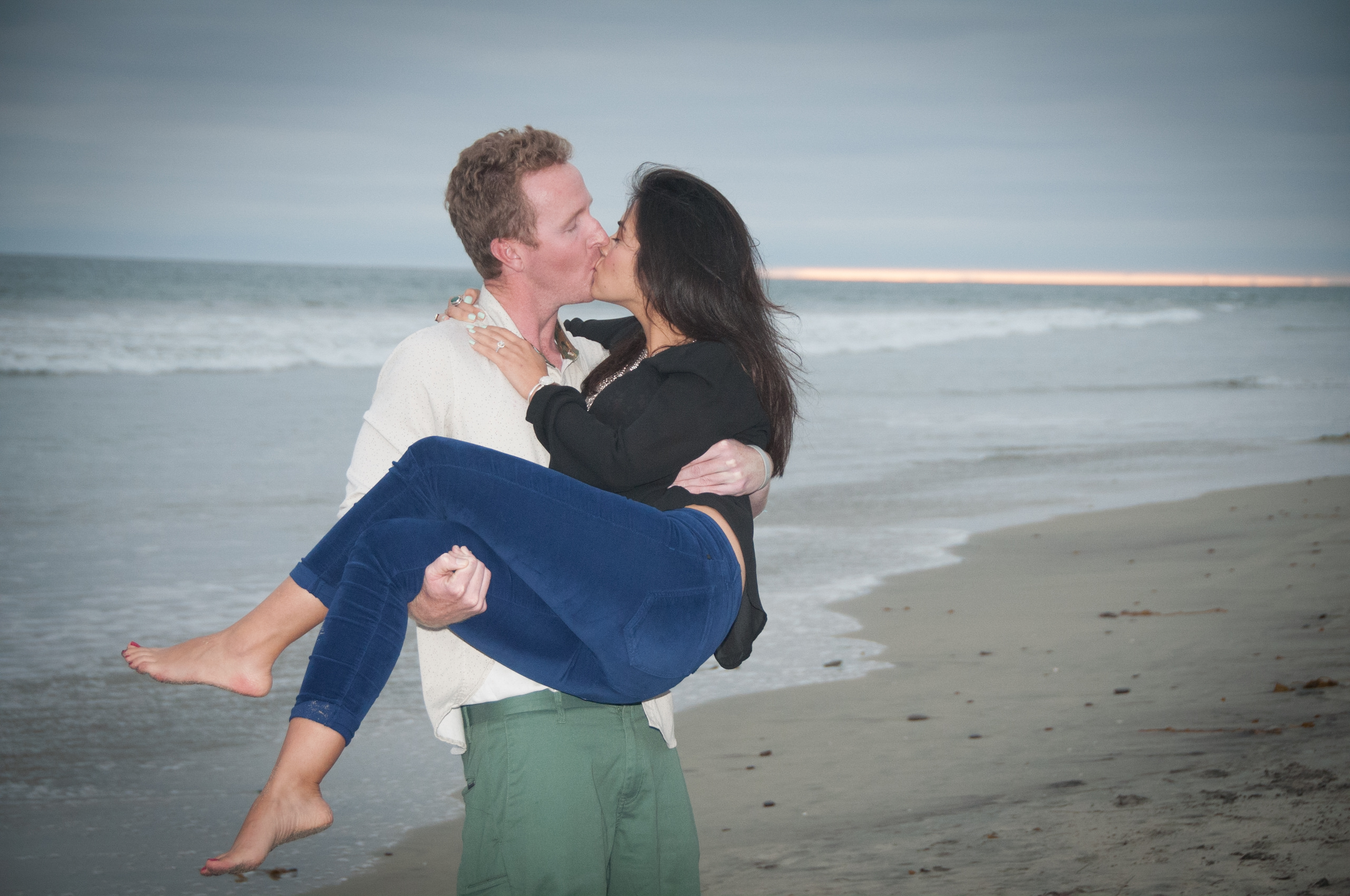 Surprise Proposal, Engagement Photos at the Buccaneer Beach, Oceanside