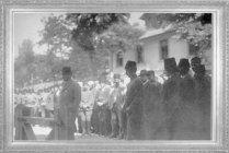 Mustafa Kemal, Eskişehir İstasyonu'nda Fransız Bakan Franklin Bouillon'u karşılıyor (1921)