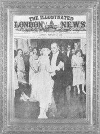 Mustafa Kemal, manevi kızı Nebile'nin düğün töreninde dans ederken çekilen bu resim, 23 Şubat 1929 tarihli Illustrated Dergisi'nin kapağında yer almıştır.