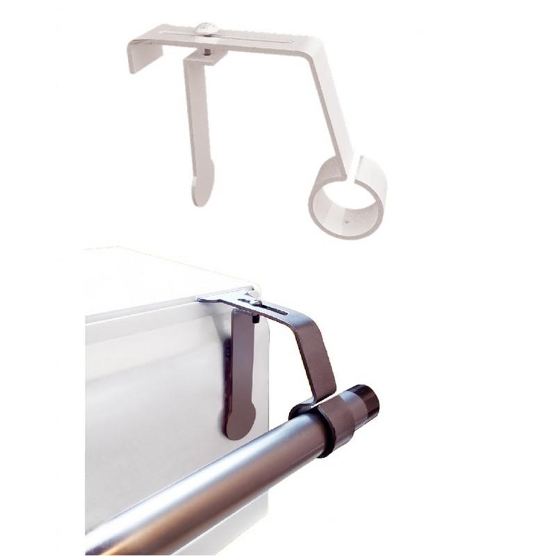 1 support de tringle a rideaux o 16 a 20mm sans percage pour coffret volet roulant