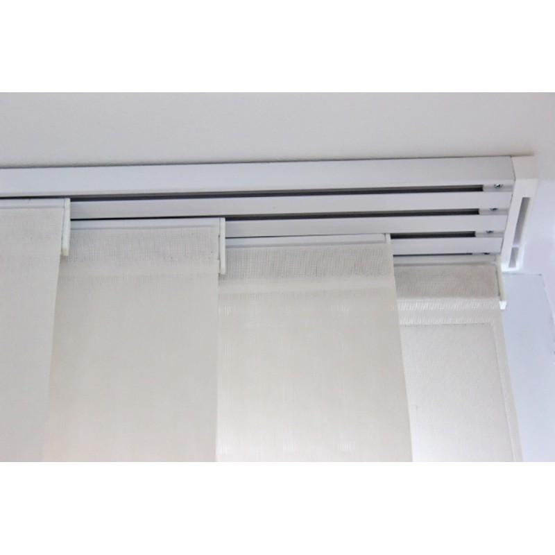 kit rail panneaux japonais 1 10 metre 2 voies 2 coulissants 60 cm blanc