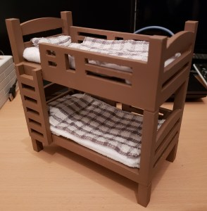 3Dプリンタでドール用2段ベッド(失敗)