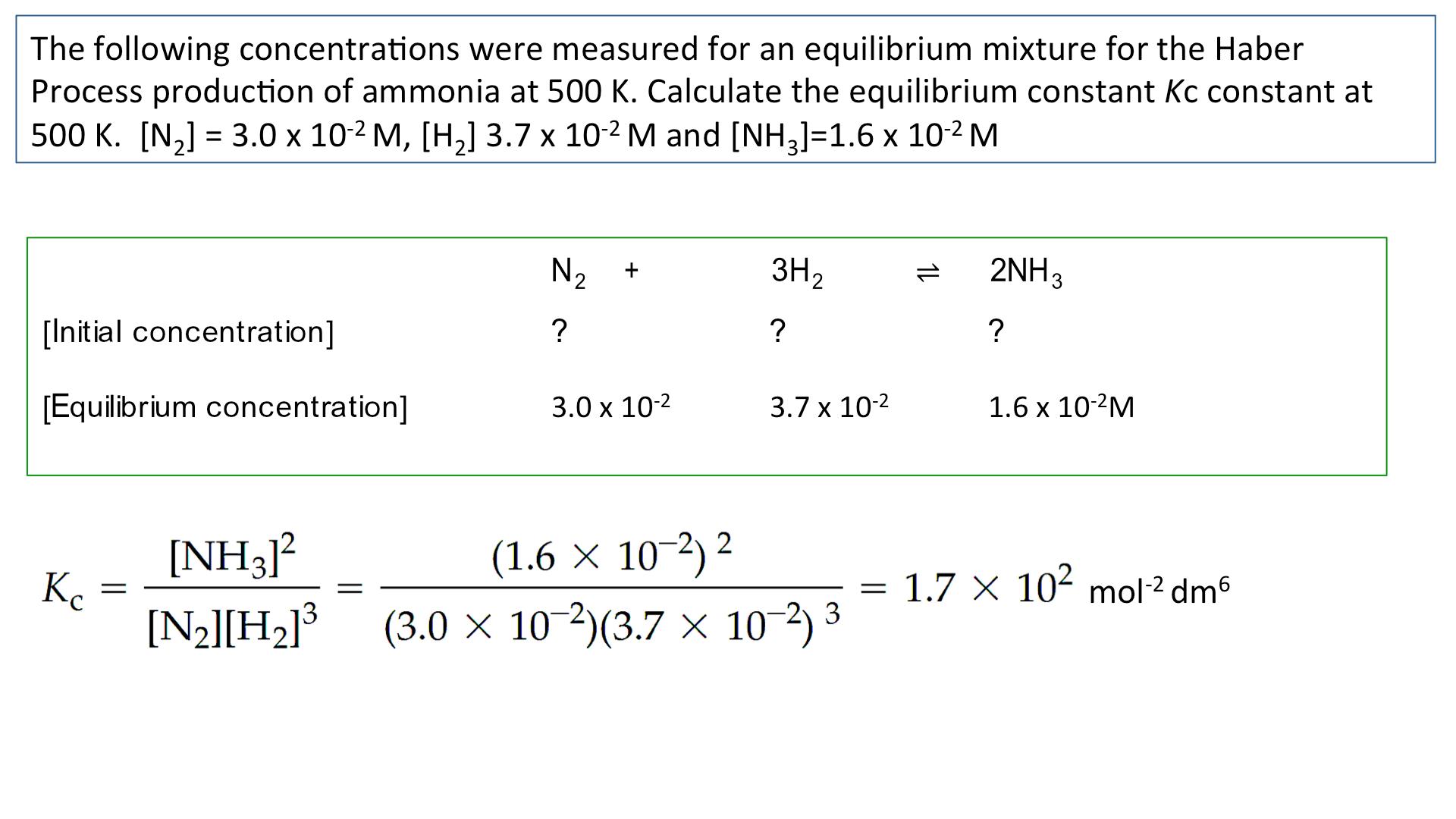1 10 Equilibrium Constant Kc For Homogeneous Systems Equilibrium A2