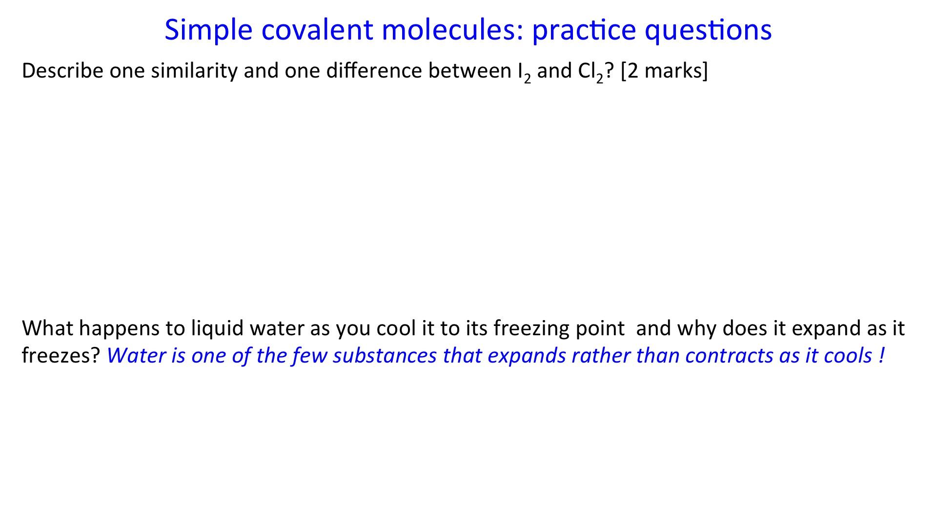 Simple Covalent Molecules