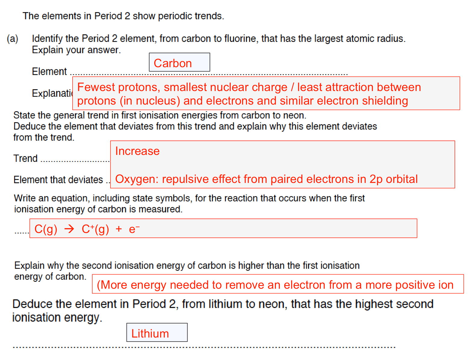 What Is The Equation For Second Ionization Energy Of