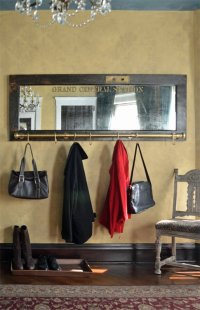 Wall mounted coat rack with mirror - Grand Central Station ...