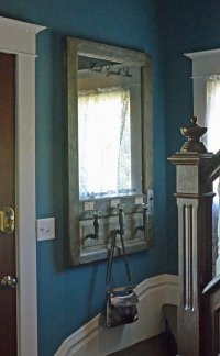 Wall mounted mirror coat rack - European style vintage ...