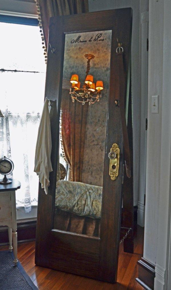 Old Vintage Doors Full Length Mirror