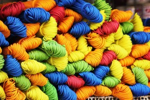Many Multicolored Jumbled Threads Creating the Tapestry of Our Lives