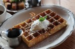Belgian waffle with Speculoos and Whipped Cream