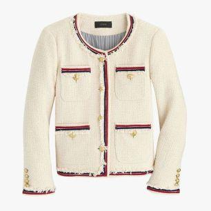 Jcrew fringy tweed jacket