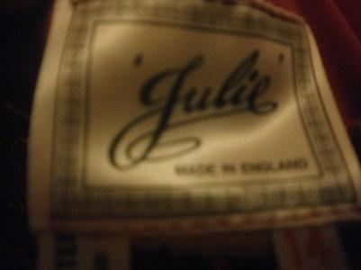 vintage dress label,size 14