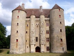 One of the many medieval castles still standing in Burgundy. This is the Chateau de Chevenon, built in the 14th century