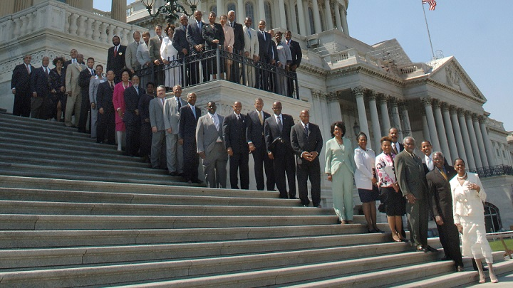 congressional black caucus photo on capitol steps