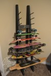 Custom skateboard rack