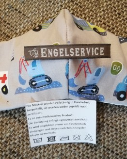 Nasen-/Mundabdeckung Fahrzeuge grau