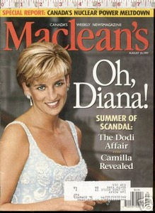 MACLEANS AUGUST 25 1997 PRINCESS DIANA SUMMER OF SCANDA