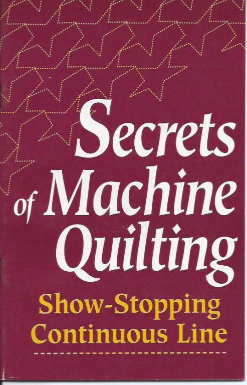 Secrets of machine quilting book