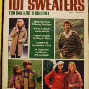 Womans Day 101 Sweaters Knit & Crochet Patterns Jan 1981