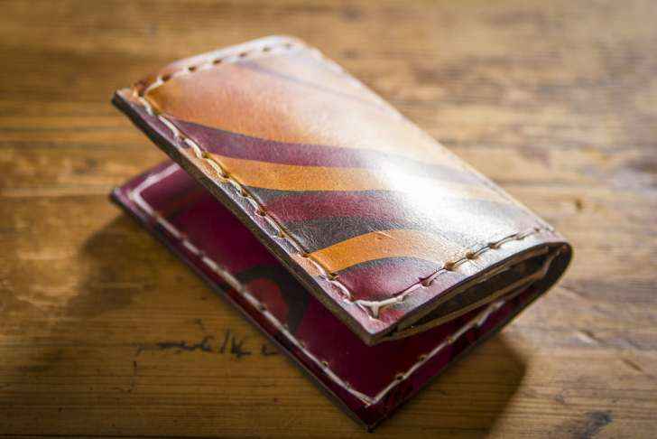 Batik Leather Wallet