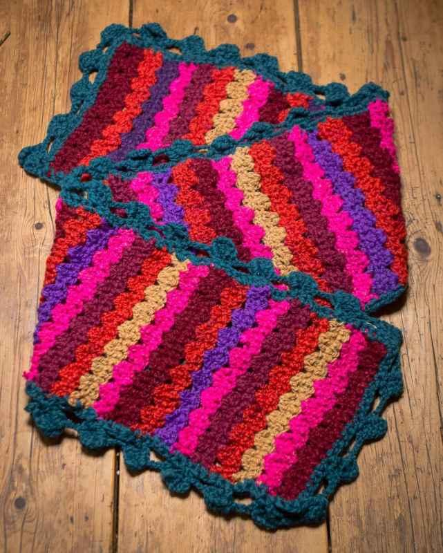 Crocheted scarf, diy