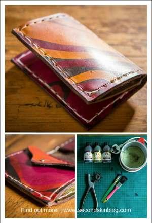making a batik leather wallet, tutorial