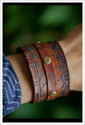 making a leather cuff bracelet
