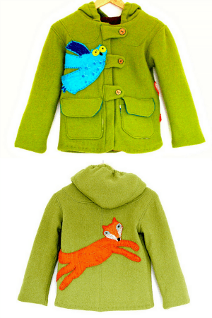 Children's Wool Coat With Felt Applique - Making Fun Clothes For Boys