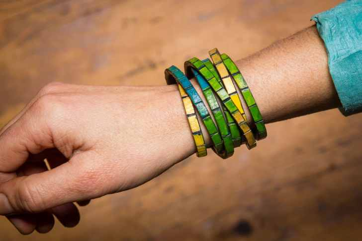 leather wrap bracelet diy