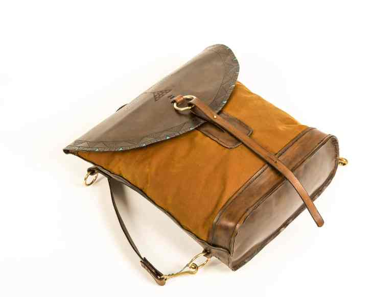 leather/oilskin rucksack