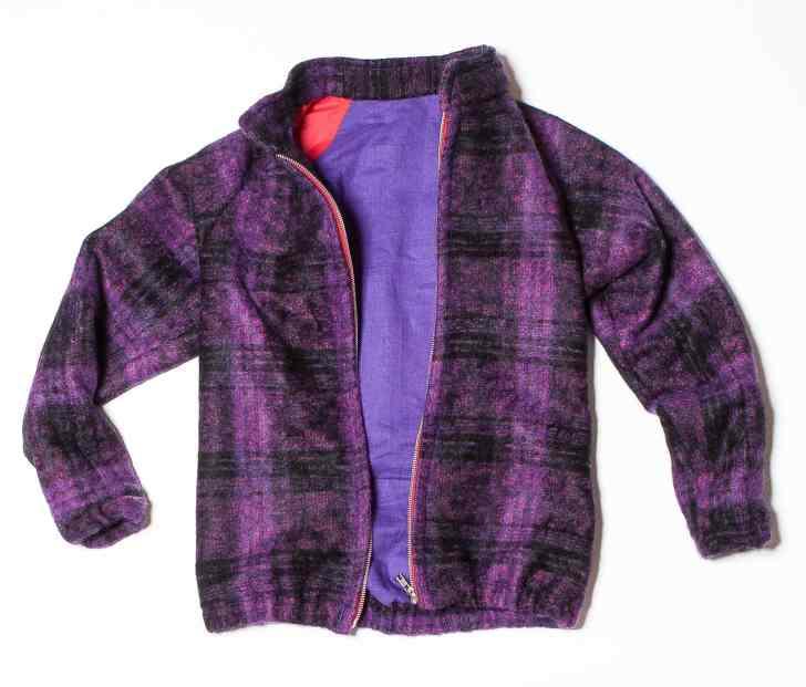 diy woolen bomber jacket