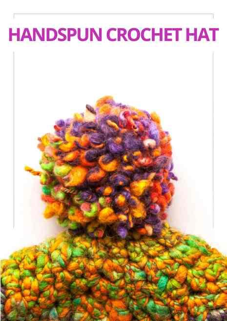 Handspun Crocheted Hat