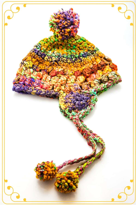 Handspun Crochet Hat Pdf Pattern
