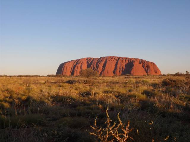 ayers rock sunset