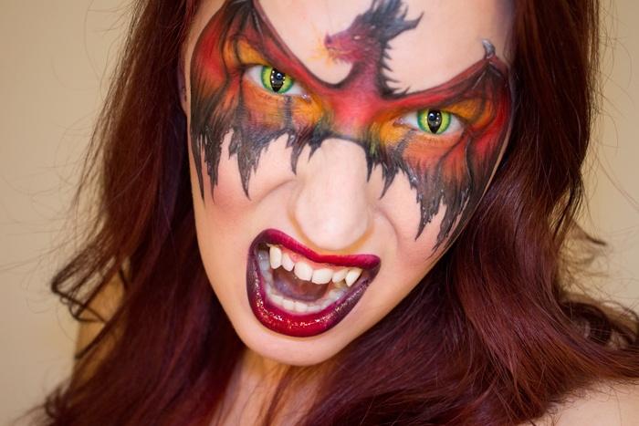 Шикарный грим для Хеллоуина - Дракон!