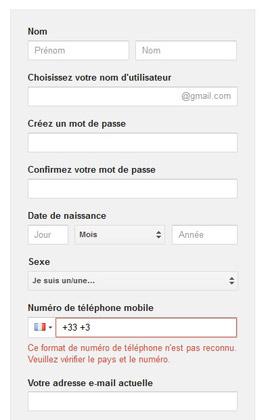 Gmail créer un compte