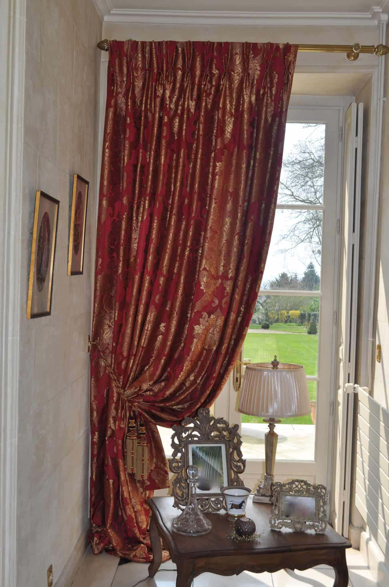 double rideau a tetes flamandes