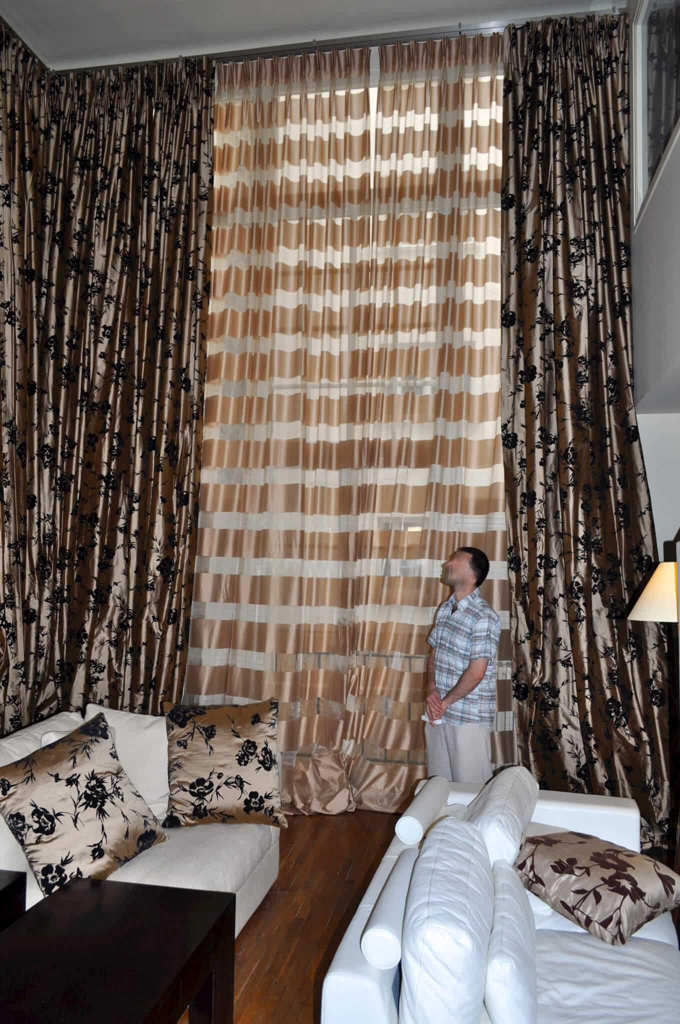 rideaux voilages et double rideaux sur