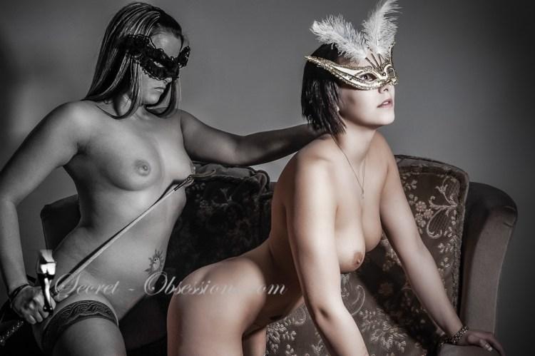 Two masked girls fetish art Illustrated erotic poetry