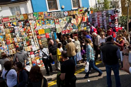 Portobello market art shop