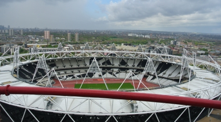 view over olympic stadium london