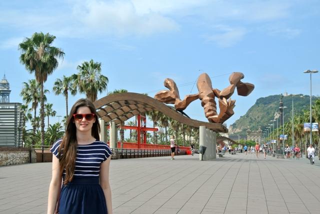 me in Barceloneta
