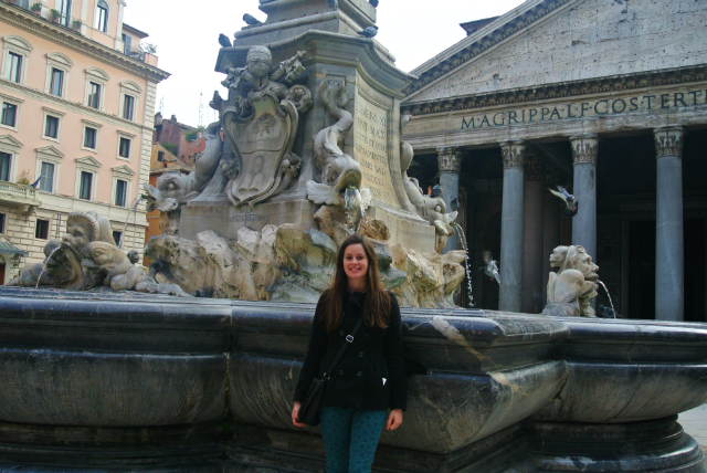 me at the Pantheon