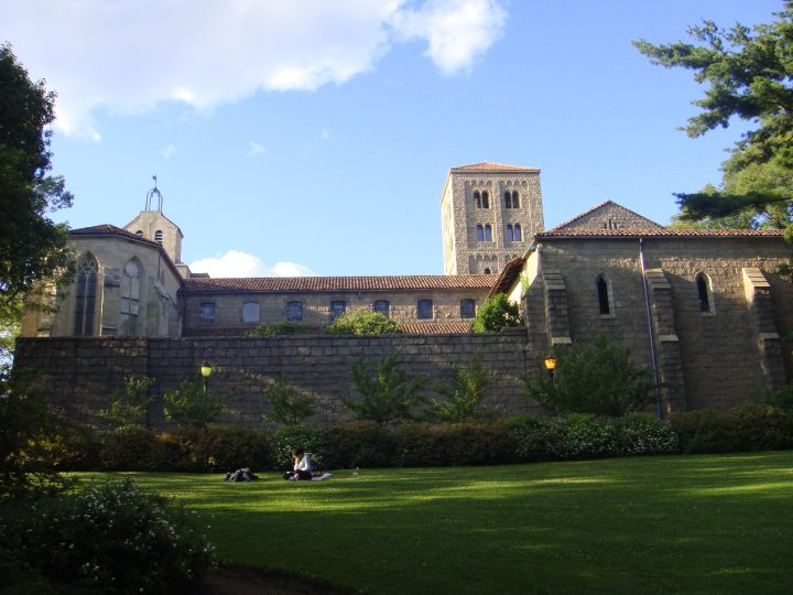 view over French Cloister in New York