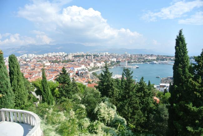 view over Split in Croatia