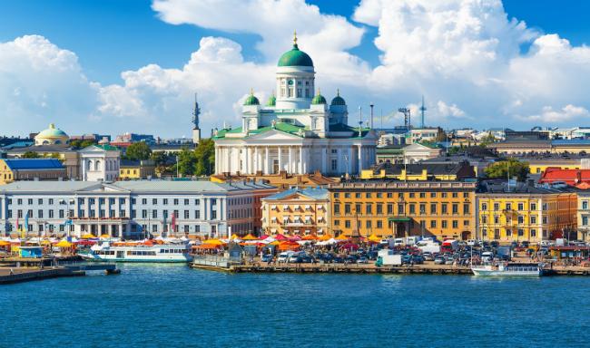 view over port in Helsinki