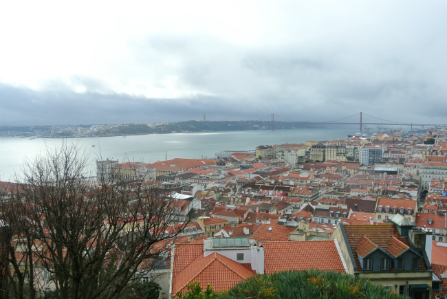 view from Sao Jorge Castle in Lisbon